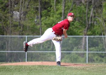 Pat Huyge Threw a Complete Game To Earn His Frist and Programs First Victory
