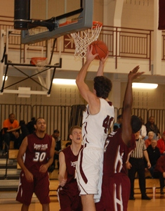 Senior Adam Onderdonk goes up for a lay-up.