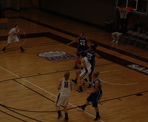 Lindsey Steffen looks for a shot in the lane.