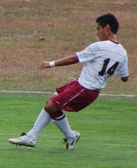 Junior Luis Delgado Netted Two Goals Tuesday Afternoon.