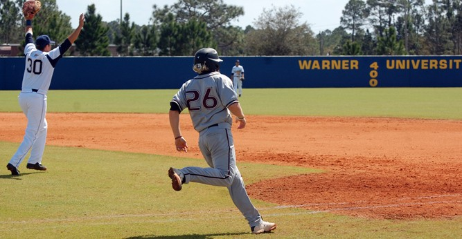Chris Woodruff went 2-for-4 in game one against Warner on Saturday