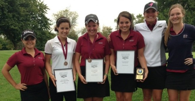 Kylie Day took home the individual title at the Fall RMU Invitational with a score of 78