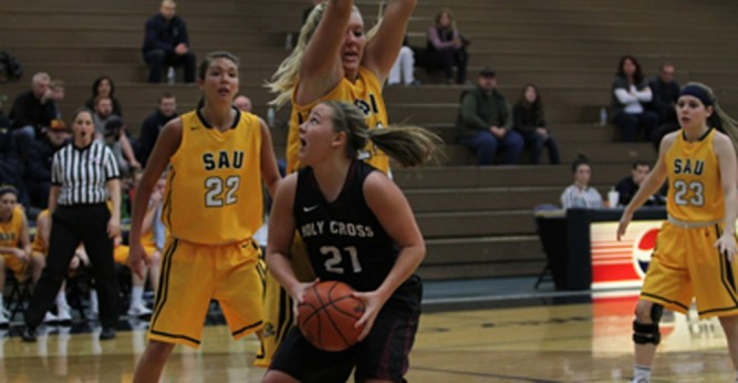 Saints Stopped at Spring Arbor, 77-50