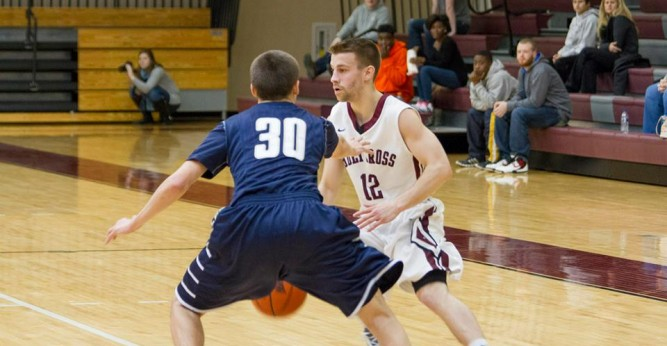 Saints Eliminate Trojans in CCAC Tourney