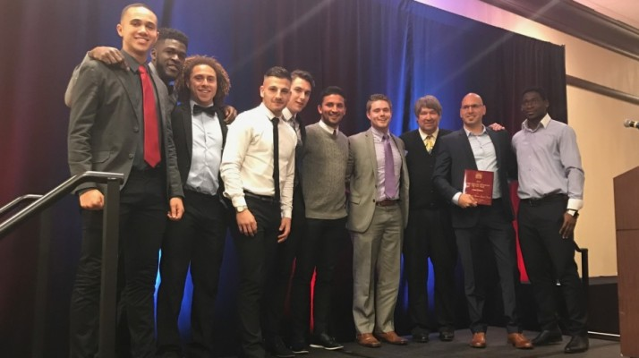 Photo for Indiana Soccer Honors Saints and Gallo