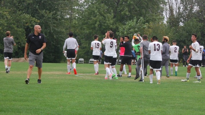 Photo for Men's Soccer Takes Down Goshen in Rainy Thriller