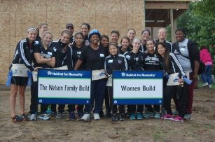 The  Saints spent the day with Habitat for Humanity on the Nelson Build Project.