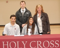 Taylor with Coach Reynolds, Nathan Walker and Nancy Paoulos